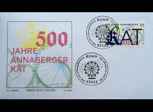 Bund BRD Ersttagsbrief FDC 4. Juni 2020 Nr. 3547 500 J. Volksfest Annaberger Kät