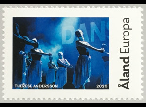 Aland 2020 Nr. 485 My Stamp Tanzschule Dunderdans Therese Andersson Tanzmotiv