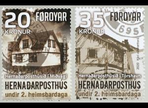 Dänemark Färöer 2020 Nr. 983-84 Britische Feldpostämter auf den Färöern