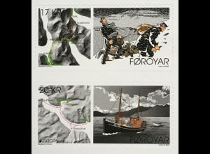 Dänemark Färöer 2020 Nr. 981-82 Europamarken Historische Postrouten