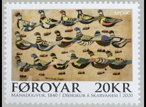 Dänemark Färöer 2020 Nr. 985 SEPAC: Kunstwerke aus Nationalen Sammlungen