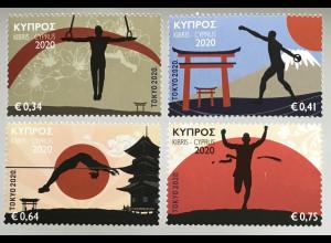 Zypern griechisch Cyprus 2020 Nr.1429-32 Geplante Olympische Sommerspiele, Tokio