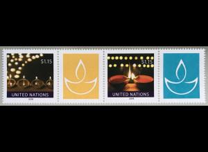 Ver. Nationen UN UNO New York 2018 Nr. 1696-1697 Diwali Beliebtes Lichterfest