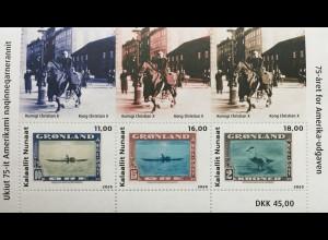 Grönland 2020 Block 96 75. Jahrestag der New Yorker Ausgabe Geschichte