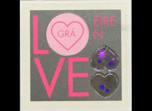 Irland 2020 Nr 2347 I Hochzeits- und Valentinstagsgrußmarke Herz Hologrammfolie