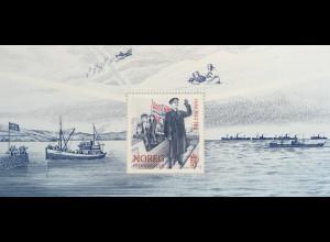 Norwegen 2020 Block 55 Feier 8. Mai 75 Jahre Frieden und Befreiung vom Krieg