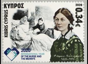 Zypern griechisch Cyprus 2020 Neuheit Intern. Jahr der Hebammen Krankenschwester