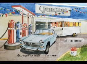 Frankreich France 2020 Nr. 7564-65 Klassische Automobile Peugeot 204 Cabrio