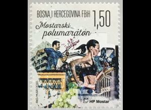 Bosnien Herzegowina Kroatische Post Mostar 2020 Neuheit Halbmarathon Sport