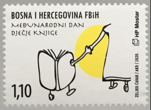 Bosnien Herzegowina Kroatische Post Mostar 2020 Neuheit Kinderbuchtag Aktionstag