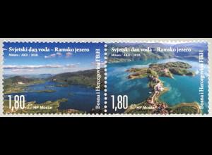 Bosnien Herzegowina Kroatische Post Mostar 2020 Neuheit Weltwassertag UN-Water