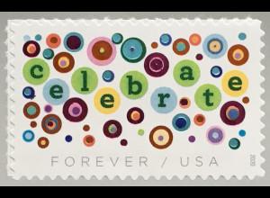 USA Amerika 2020 Nr. 5672 Grußmarke mit colourierter Lackfolie