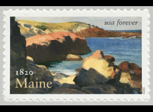 USA Amerika 2020 Nr. 5693 200 Jahre Staat Maine Gemälde Edward Hopper