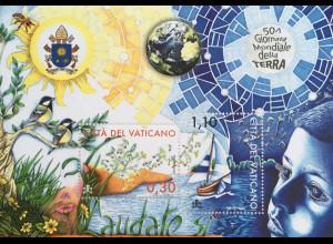 Vatikan Cittá del Vaticano 2020 Block 64 50 Jahre Tag der Erde Natur und Umwelt