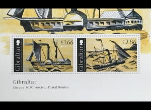 Gibraltar 2020 Neuheit Europaausgabe Historische Postwege Seefahrt