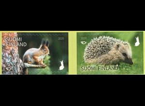 Finnland Finland 2020 Nr. 2711-12 NORDEN Thema Säutgetiere Eichhorn Igel