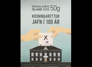 Island Iceland 2020 Neuheit 100 Jahre gleiche Rechte Politik Gleichberechtigung