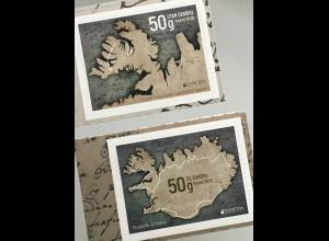 Island Iceland 2020 Nr. 1609-10 Europaausgabe Historische Postwege Postrouten