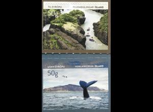 Island Iceland 2020 Nr. 1607-08 Tourismus Whalewatching Reisen Natur Flora Fauna