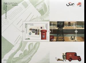 Madeira 2020 Block 73 Europaausgabe Historische Postwege Postrouten Postbote