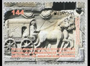 Makedonien Macedonia 2020 Neuheit Europaausgabe Historische Postwege Postroute