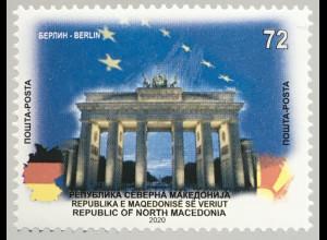 Makedonien Macedonia 2020 Neuheit Europ. Hauptstädte Berlin Brandenburger Tor
