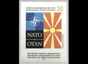 Makedonien Macedonia 2020 Neuheit Nordmazedonien in der NATO Nordatlantikbündnis