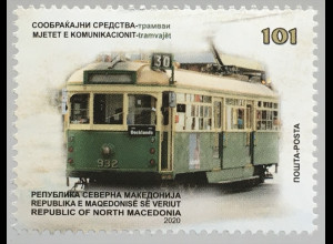 Makedonien Macedonia 2020 Neuheit Straßenbahn Verkehr Transport Trambahn