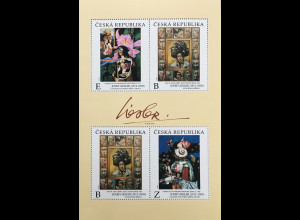 Tschechische Republik 2020 Block 82 Josef Liliesler surrealistischer Maler Kunst