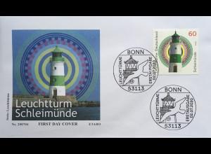 Bund BRD Ersttagsbrief FDC 2. Juli 2020 Nr. 3552 Leuchtturm Schleimünde