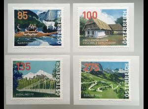 Österreich 2020 Dispenser Nr. 33-36 Freimarken Heimat Narzissenfest Ausseerland