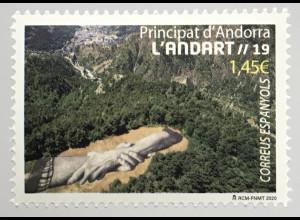 Andorra spanisch 2020 Nr. 497 Landschaften Europa Tourismus Natur