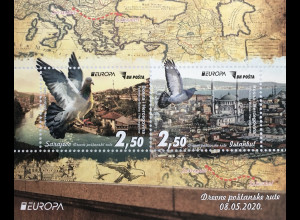 Bosnien Herzegowina Neuheit Europaausgabe Historische Postwege Postrouten Block