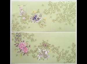 Frankreich France 2020 Block 473-474 Blume. aus Grasse Parfümherstellung