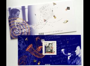 Frankreich France 2020 Block 465 100. Geburtstag von Boris Vian Jazzmusiker