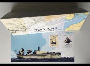 Frankreich France 2020 Block 470 350 Jahr hydrographische Aufzeichnungen Schiff