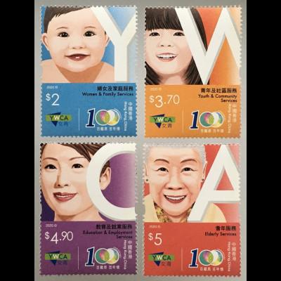 Hongkong 2020 Nr. 2354-57 100 Jahre christliche Frauenorganisation