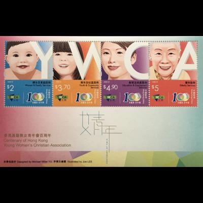 Hongkong 2020 Block 366 100 Jahre christliche Frauenorganisation Block