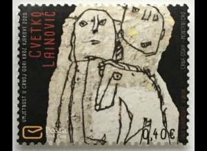 Montenegro 2020 Neuheit Kunst durch die Jahre Cvetko Lainovic Maler Künstler