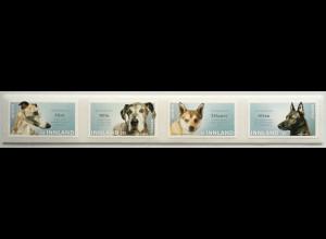 Norwegen 2020 Nr. 2025-28 Mein Hund auf Briefmarke Hunderassen Hundearten Fauna