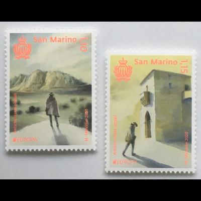 San Marino 2020 Neuheit Europaausgabe Historische Postrouten Postbeförderung