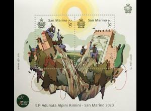 San Marino 2020 Neuheit 93 Jahre Alpenverein Rimini Adunata Alpini Rimini