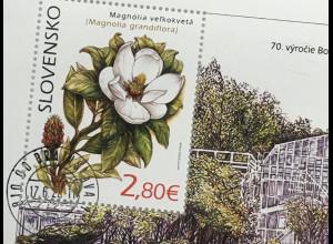 Slowakei Slovakia 2020 Block 56 Botan. Garten Pavol-Jozef-Šafárik-Universität