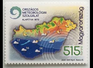 Ungarn Hungary 2020 Nr. 6119 Wetterdienst Klima Klimaveränderung Klimakarte