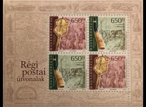 Ungarn Hungary 2020 Block 439 Europaausgabe Historische Postwege Postverkehr