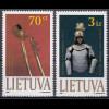 Litauen 1999 Michel Nr. 712–13 Ausstellungsstücke aus dem Kriegsmuseum