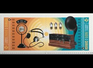 Kanada Canada 2020 Neuheit Geschichte des Radios Nostalgie Handwerk Akustik