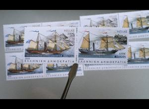 Griechenland Greece 2020 Nr. 3077-78 A Europa Historische Postbeförderung Schiff