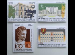 Griechenland Greece 2020 Nr. 3079-82 Gedenktage wichtige Feiertage und Anlässe