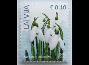 Lettland Latvia 2020 Neuheit Freimarke Schneeglöckchen Blume Flora